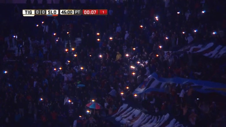 Lights go out during Tigre and San Lorenzo game in Argentina