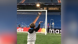Toni Kroos' son Leon took the field with his dad after Real Madrid's UCL win