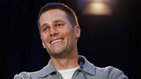 HOUSTON, TX - FEBRUARY 06:  Super Bowl LI MVP Tom Brady talks with the media about their win over the Atlanta Falcons at the Super Bowl Winner and MVP press conference on February 6, 2017 in Houston, Texas.  (Photo by Bob Levey/Getty Images)