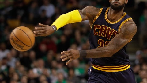 Will LeBron keep his foot on Boston's throat for the entire series?