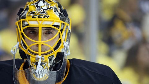 Penguins' Fleury to stay in net for Game 2 vs Blue Jackets