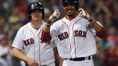 The Boston Red Sox win the American League East...