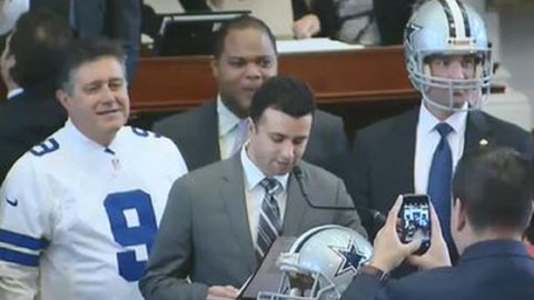 Texas Legislature Fetes Former Cowboys Quarterback Tony Romo