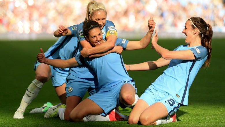 Watch Carli Lloyd score as Manchester City Women cruise in FA Cup final
