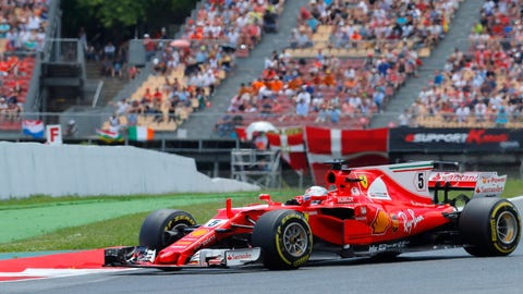 Ferrari fans had a lot to cheer about and a lot to cry about at Sunday's Spanish GP. (AP Photo/Manu Fernandez)