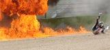 Photos from Eugene Laverty's fiery Superbike crash
