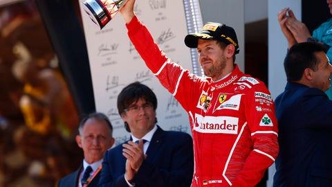 Sebastian Vettel finished second behind Lewis Hamilton at Sunday's Spanish GP. (Photo: Andy Hone/LAT Images)