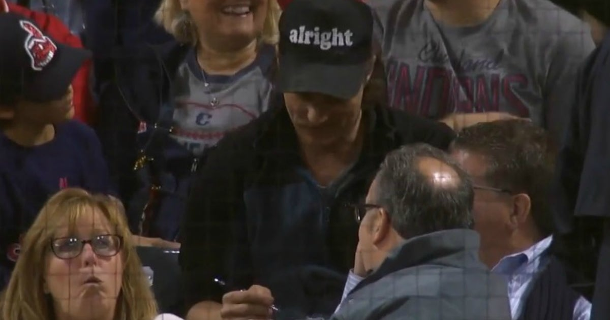 Matthew McConaughey signs autographs at Indians game with sweet 'alright' hat | FOX Sports