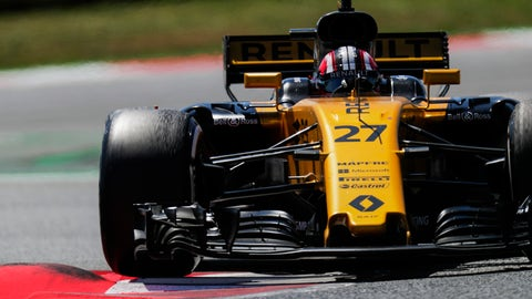 Nico Hulkenberg gave Renault a strong 6th-place finish in Spain, but admits he was lucky. (Photo: Zak Mauger/LAT Images)