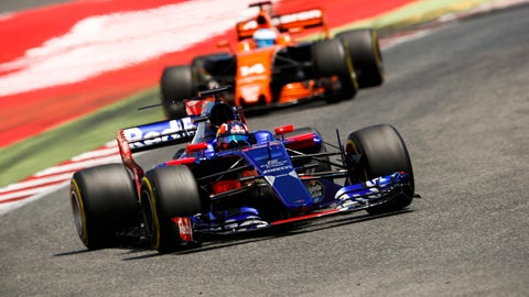 Dany Kvyat en route to a ninth-place finish at the Spanish GP. (Photo: Glenn Dunbar/LAT Images)