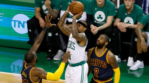 James, Love help Cavaliers rout Celtics in Game 1 of East finals