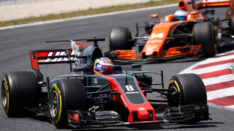 Romain Grosjean was left feeling frustrated after the Spanish GP, despite the Haas F1 driver making the points in 10th place. (Photo: Andy Hone/LAT Images)