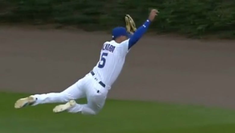 Watch the Cubs' Albert Almora Jr. absolutely rob the Giants' Brandon Belt