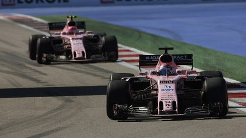 Sergio Perez and Esteban Ocon currently race for the Force India F1 team. (Photo: Charles Coates/LAT Images)