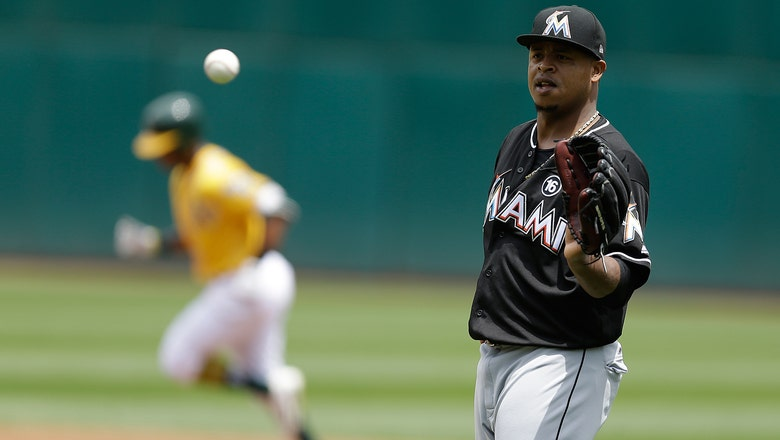 Marlins struggle to solve Sonny Gray, finish road trip with loss to A's