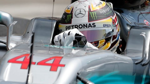 Lewis Hamilton and Mercedes were off the pace in practice in Monaco after struggling for grip. (AP Photo/Frank Augstein)