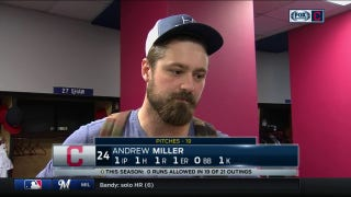 Indians reliever Andrew Miller not pleased with how he pitched late