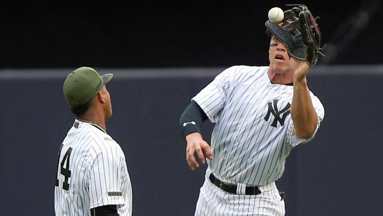 Watch the Yankees' Aaron Judge and Starlin Castro team up for circus catch