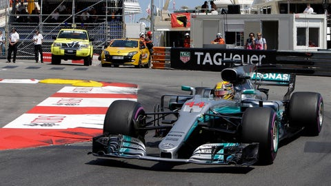 Lewis Hamilton is now 25 points behind championship leader Sebastian Vettel. (AP Photo/Claude Paris)