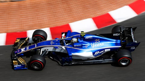 Pascal Wehrlein was OK after a crash at the Monaco GP on Sunday. (Photo: Charles Coates/LAT Images)