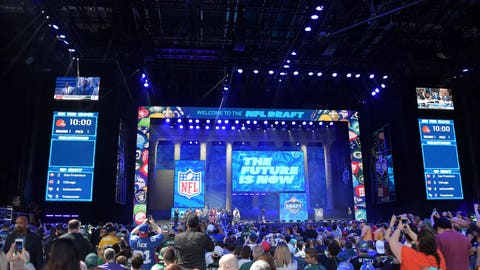 Apr 27, 2017; Philadelphia, PA, USA; General overall view of in the first round the 2017 NFL Draft as the Cleveland Browns prepare for the No. pick at the Philadelphia Museum of Art. Mandatory Credit: Kirby Lee-USA TODAY Sports