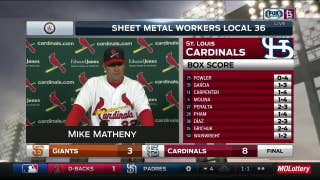 Matheny says Diaz is being 'aggressive in the zone' and finding success