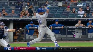 Jorge Bonifacio goes deep to give Royals early lead