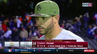Pham says Wainwright 'went in there and did his thing' against Rockies