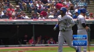 WATCH: Jorge Bonifacio hits a moon shot in Royals' loss to Indians