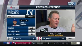 Ned Yost says Danny Duffy 'just wasn't sharp' in Royals' loss to Indians