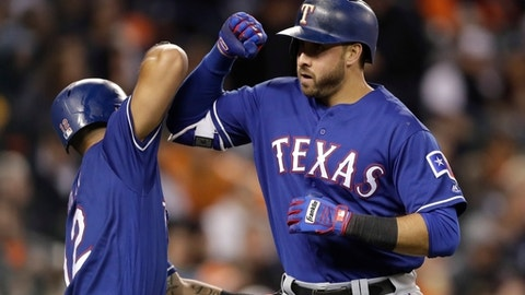 Darvish tops Tigers again, Napoli homers as Texas rolls 5-2