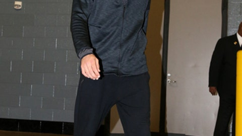 HOUSTON, TX - APRIL 25: Enes Kanter #11 of the Oklahoma City Thunder arrives to the arena before the game against the Houston Rockets in Game Five of the Western Conference Quarterfinals during the 2017 NBA Playoffs on April 25, 2017 at the Toyota Center in Houston, Texas. NOTE TO USER: User expressly acknowledges and agrees that, by downloading and or using this photograph, User is consenting to the terms and conditions of the Getty Images License Agreement. Mandatory Copyright Notice: Copyright 2017 NBAE (Photo by Layne Murdoch/NBAE via Getty Images)