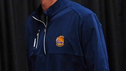 SAN ANTONIO, TX - MAY 20:  Steve Kerr of the Golden State Warriors arrives at the arena before Game Three of the Western Conference Finals against the San Antonio Spurs during the 2017 NBA Playoffs on May 20, 2017 at the AT&T Center in San Antonio, Texas. NOTE TO USER: User expressly acknowledges and agrees that, by downloading and or using this photograph, user is consenting to the terms and conditions of the Getty Images License Agreement. Mandatory Copyright Notice: Copyright 2017 NBAE (Photos by Jesse D. Garrabrant/NBAE via Getty Images)
