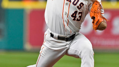 Houston Astros starting pitcher Lance McCullers Jr. delivers during the first inning of a baseball game against the Detroit Tigers, Tuesday, May 23, 2017, in Houston. (AP Photo/Eric Christian Smith)