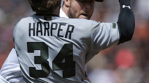 Major League Baseball  suspends Bryce Harper, Hunter Strickland for role in bench-clearing brawl