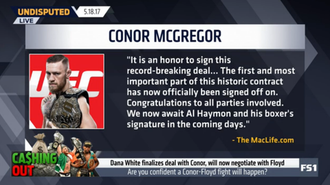 Conor McGregor: It is an honor to sign this deal