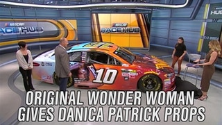 Original Wonder Woman Gives Danica Patrick Props