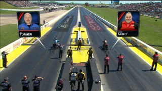 Mike Scott Wins Top Fuel Harley Final at Topeka | 2017 NHRA DRAG RACING