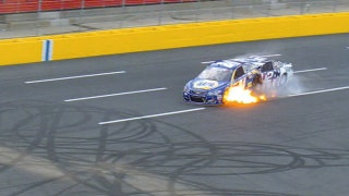 Chase Elliott and Brad Keselowski Crash Early at Charlotte | 2017 CHARLOTTE | FOX NASCAR
