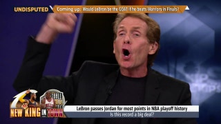 LeBron James breaks Michael Jordan's playoff points record - Skip Bayless reacts | UNDISPUTED