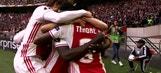 Bertrand Traore's header gives Ajax a 1-0 lead  | 2016-17 UEFA Europa League Highlights