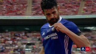 Diego Costa levels it for Chelsea   2016-17 FA Cup Final Highlights