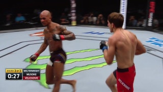 Bojan Velickovic makes Nico Musoke dance after right hook | UFC FIGHT NIGHT HIGHLIGHTS
