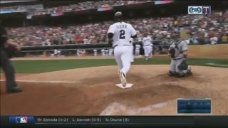 WATCH: Dozier launches two-out, two-run homer in 8th inning