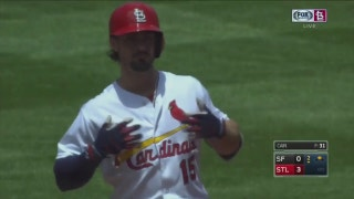 WATCH: Grichuk doubles, Carpenter goes deep in Cardinals' win over Giants