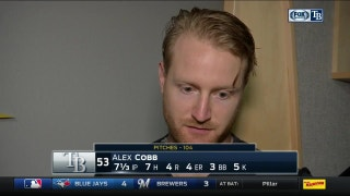 Alex Cobb frustrated by early HRs, happy about pitching into the 8th