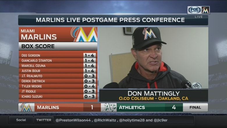 Don Mattingly: We couldn't get anything going against Sonny Gray