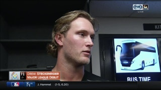 Drew Steckenrider says he had a bit of butterflies before MLB debut