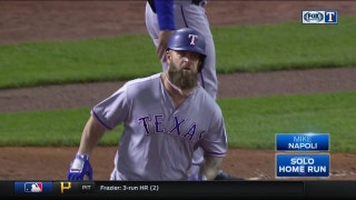 WATCH: Mike Napoli gives Rangers 2-1 lead with solo home run