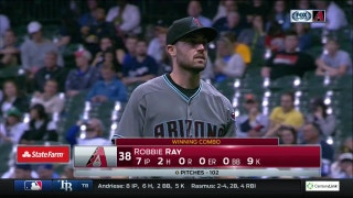 Ray shuts down Brewers with 7 scoreless innings